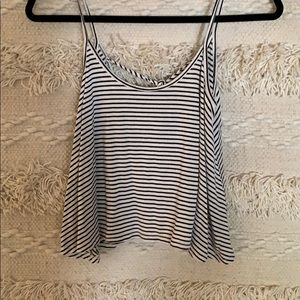 Black and white tank top.